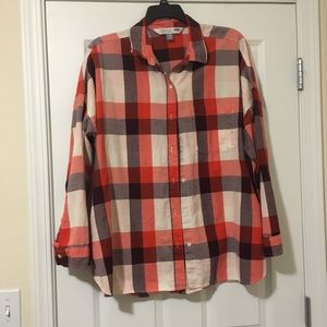 Size XXL Old Navy Boyfriend Tunic Orange Shirt